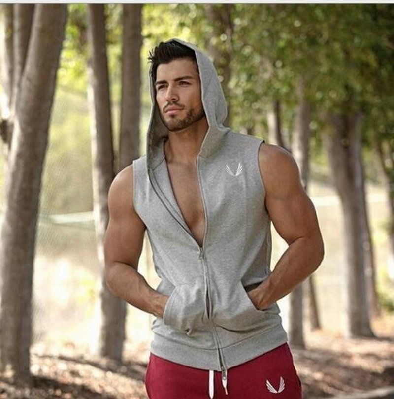 VXO Mens Hoodie Singlets Sweatshirts Mens Tank Tops Stringer Bodybuilding Fitness Men's Tank Tees Shirts Vest