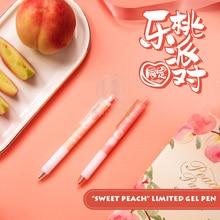 "Andstal Cute Fashion ""Sweet Peach Party"" Black Ink Gel Pen 0.5mm M&G Kawaii Pens korean stationery school supplies pens gelpen"