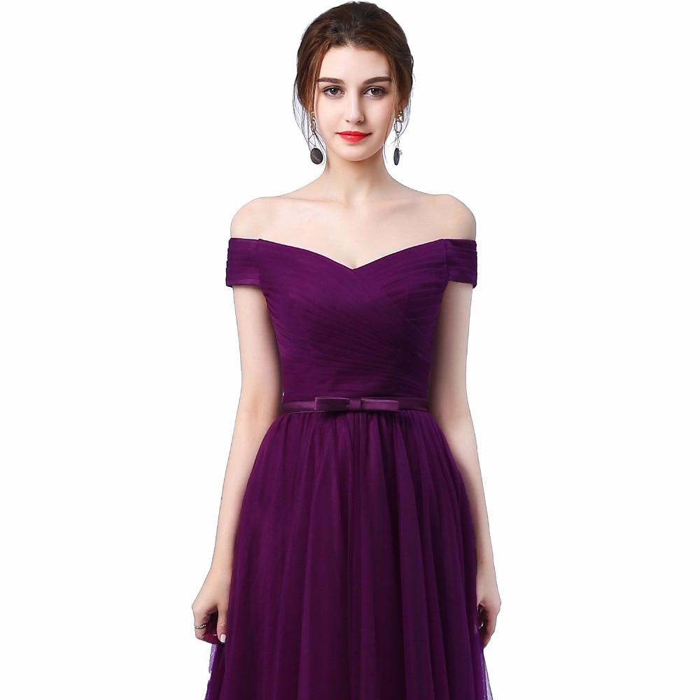 Ladybeauty 2018 Robe De Soiree Rødvin Rød Slit Kort Kveld Kjoler - Spesielle anledninger kjoler - Bilde 4