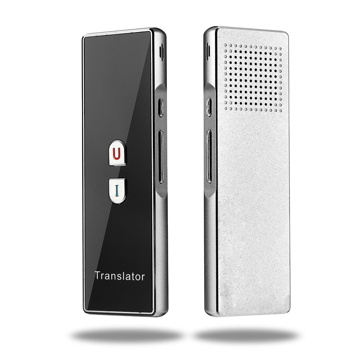 Portable Smart Traductor de voz en tiempo Real 40 traducción idiomas Bluetooth instantánea Traductor aprendizaje negocio