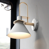 Modern vintage clarion wall lamp simple Europe wall light LED E27 with 3 colors for bedroom living room restaurant kitchen aisle