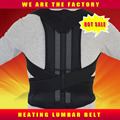 Adjustable Magnetic Posture Corrector Corset Back Brace Belt Vest Black White AFT-B002