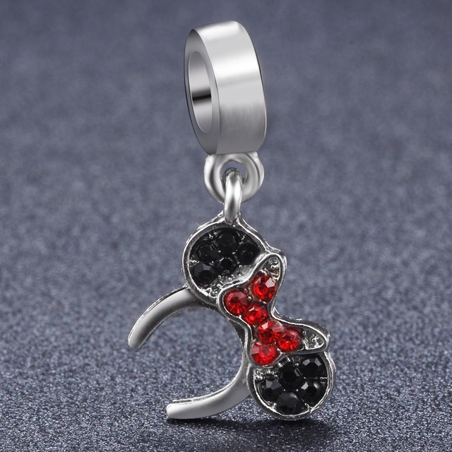 afdea2eb915a7 US $0.77 |Fashion Mickey Headband Dangle With Mickey Mouse Charm Beads fit  Pandora Bracelet Dangling Charms on Aliexpress.com | Alibaba Group