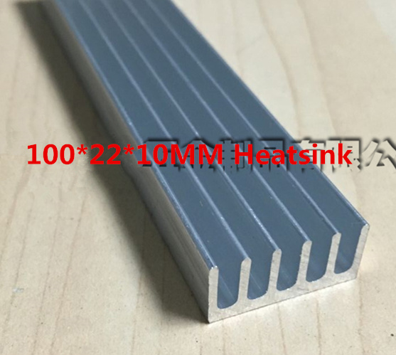High quality aluminum radiator fin 100*22*10MM Aluminum Radiator heat sink strip LED  conducting strip heat dissipation 5pcs lot pure copper broken groove memory mos radiator fin raspberry pi chip notebook radiator 14 14 4 0mm copper heatsink