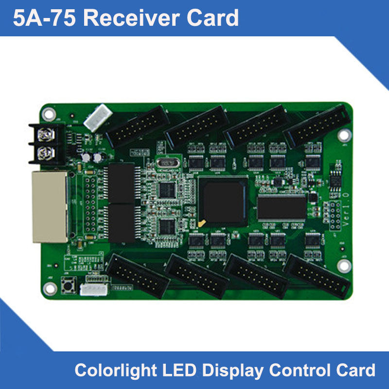 Syncrhonous LED display control system 5A-75 receiving card no need HUB75 led adapterSyncrhonous LED display control system 5A-75 receiving card no need HUB75 led adapter