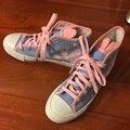 2017 Verão Confortável Dva Meninas Cosplay Tamanho do Sapato 6.5-8 Dva Sapatas de Lona Para As Mulheres Sapatos Casuais Respirável