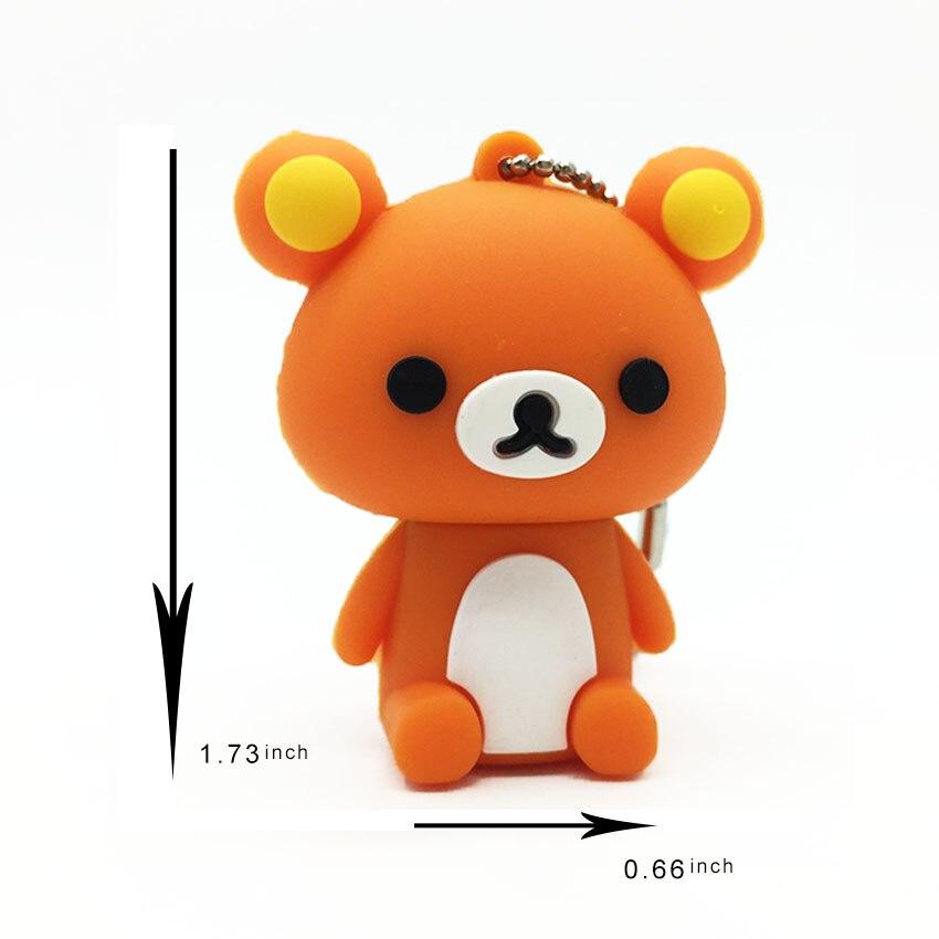 2019 New Usb Flash Drive Cute Cartoon Bear Pen Drive 4gb 8gb 16gb 32gb 64gb 128gb Pendrive High Quality Usb Stick Free Shipping (1)