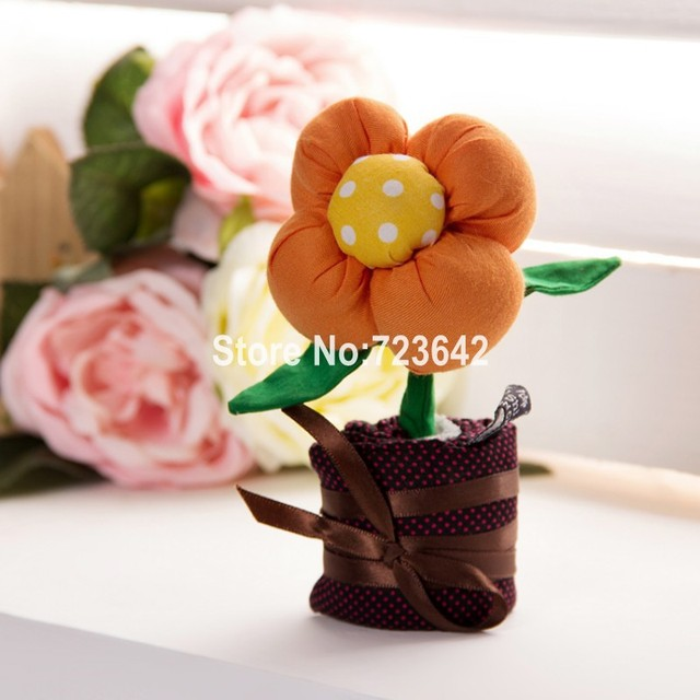 Free Shipping Eco-friendly Handmade Fabric Bamboo Charcoal Flower For Air Purification Car Formaldehyde Unique Home Decoration