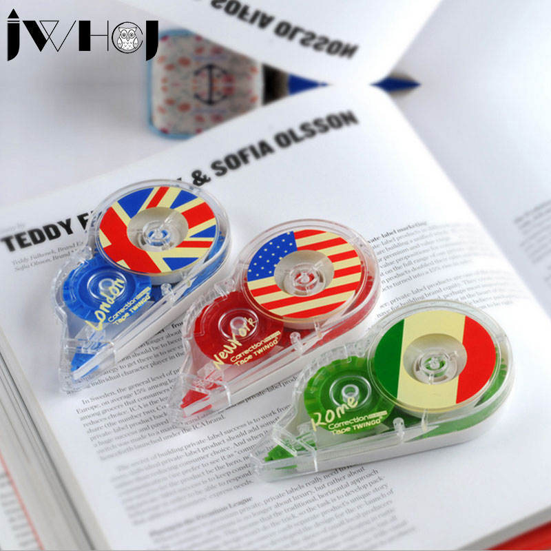 1 Pcs 15M Gear Shape National Flag Correction Tape Material Escolar Stationery Office School Supplies Papelaria Gift