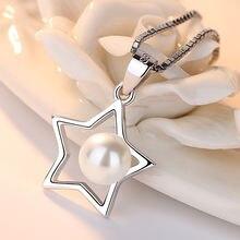 Женское ожерелье из серебра 925 пробы с маленькой звездой и