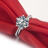 1 5 Carat Mossanite Gem Wedding Engagement Genuine 585 Rings Rings For Women Fashion Ring