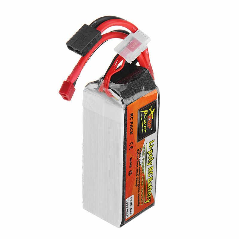 ZOP Power 14,8 V 7000mah 40C 4S batería recargable Lipo enchufe para Traxxas Control remoto juguetes RC modelos accesorios de piezas