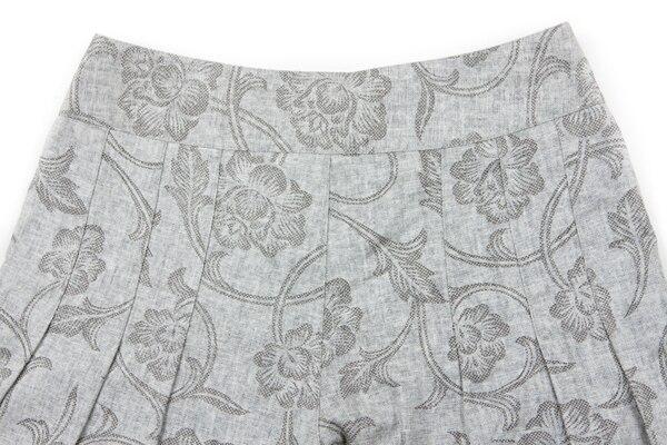 На лето и весну для женщин цветочный роспись широкие брюки свободные льняные мотобрюки, повседневное Высокая талия с цветочным Принто