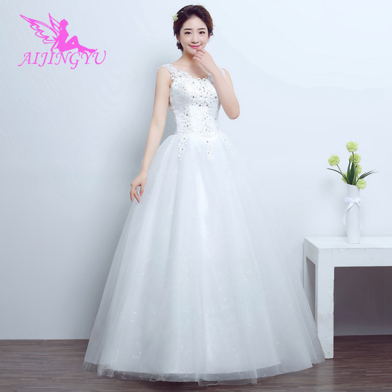 AIJINGYU 2018 Real Photos Free Shipping New Hot Selling Cheap Ball Gown Lace Up Back Formal Bride Dresses Wedding Dress FU133