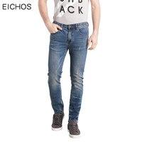 EICHOS Summer High Elasticity Skinny Jeans Men Fashion Scratched Mens Brand Jeans Plus Size 52 Fat