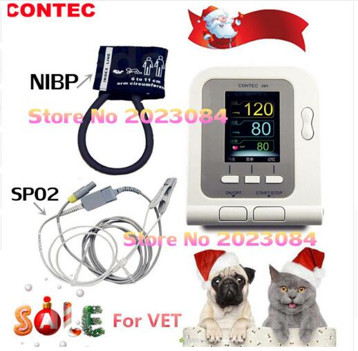FDA Blood Pressure Monitor CONTEC08A+Adult\infant\child\neo Cuffs+Adult SPO2+SW usa fda contec digital blood pressure monitor adult spo2 color lcd contec08a