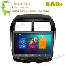 """10.2 """"android 6.0 octa core raido coche dvd gps para mitsubishi ASX 2010-2012 auto multimedia Estéreo SAT NO DVD unidad Principal jugador"""