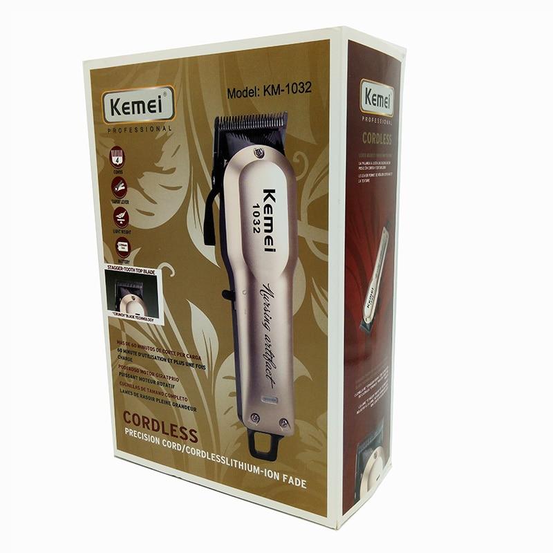 Kemei Rechargeable électrique coupe de cheveux Machine pour homme professionnel étanche cheveux tondeuse sans fil électrique tondeuse KM-1032 - 6