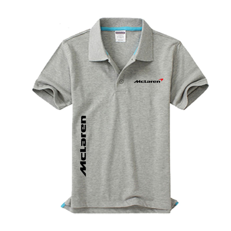 New McLaren logo Men's   Polo   Shirt High Quality Men Cotton Short Sleeve shirt Brands jerseys