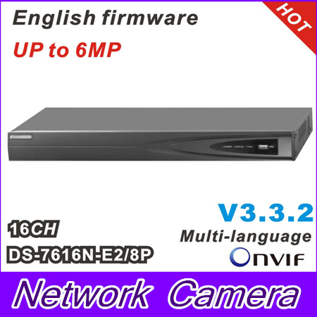 DS 7616N E2 8P Network NVR with 16CH 8POE HD 5MP for IP Camera Network Video
