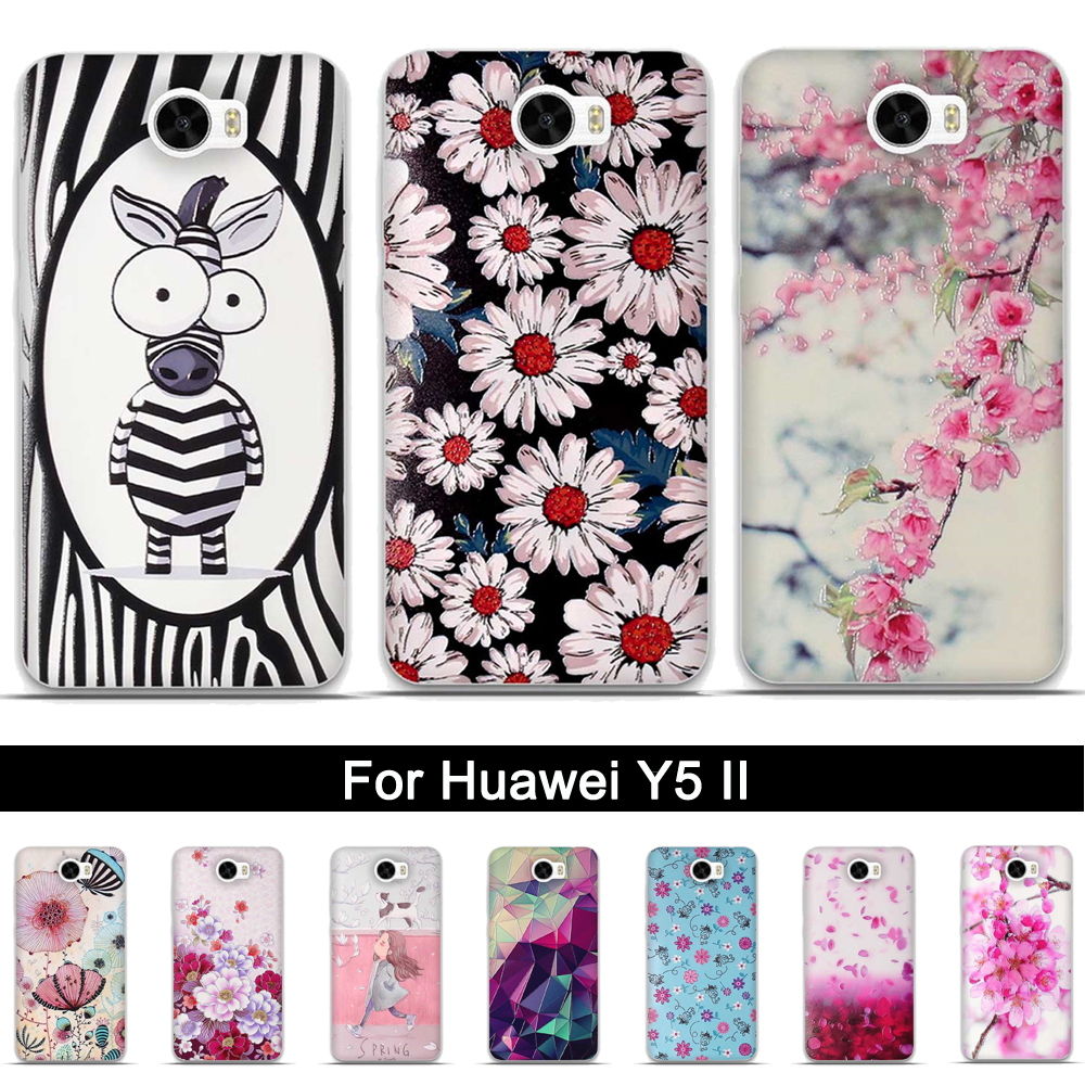 Case For Huawei Y5 Ii Honor 5a Soft Tpu Phone Cover 2 Original 3d Relief Superhero Meizu M3s 5 Inch Y5ii Silicon Back Cases