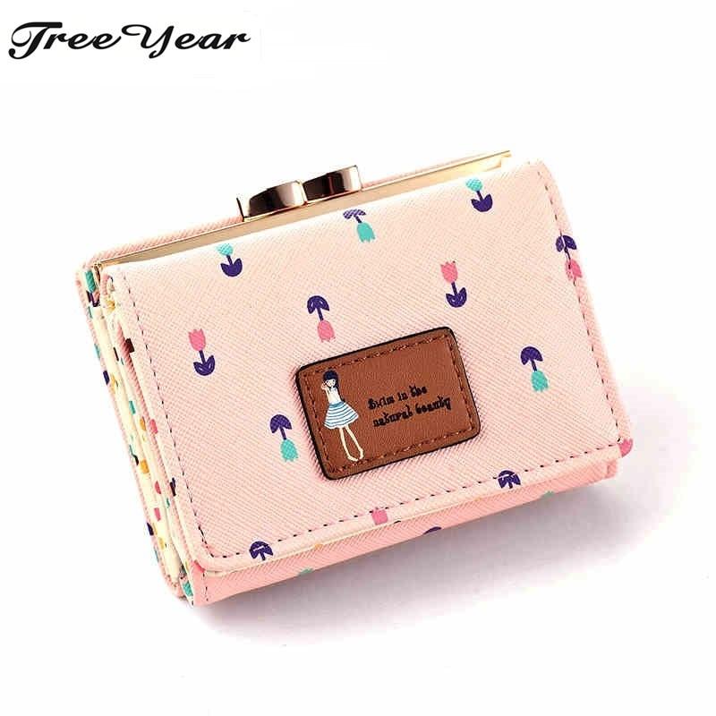 2017 Brand Designer Women Wallet Bags Best Leather Button Clutch Purse Lady Short Handbag Bag 5 Colors For Woman
