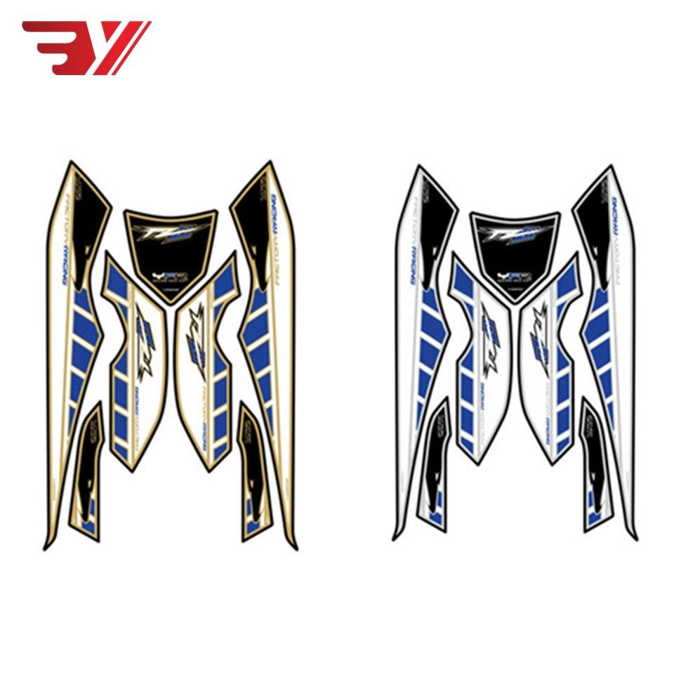 BYSPRINT moto avant carénage autocollant moteur numéro carte 3D Gel protecteur pour YAMAHA FZ8 FZ800 2010