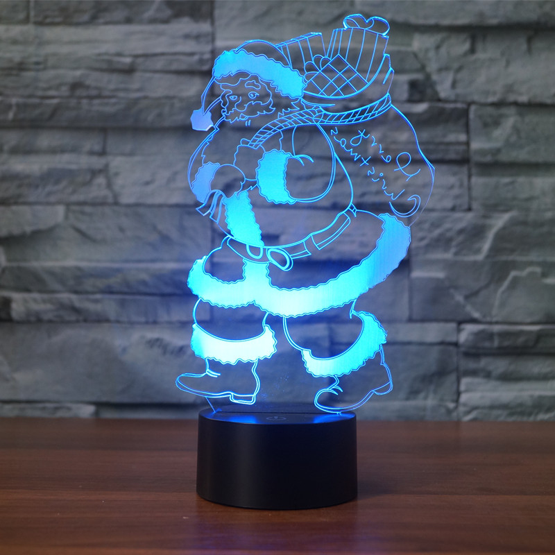 7 Amazing Colours For A Statement Wall With Wow: Christmas Santa Claus Table Lamps 7 Color Changing Led
