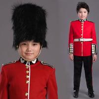 Halloween Costume For Children British Royal Guard Uniform Boys Cosplay Costume American soldier uniform Party Performance