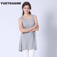 YUETONGME XL-5XL Plus Size Women 5 color Tank Tops Sleeveless Girl T-shirt for wholesale Tank BTL112
