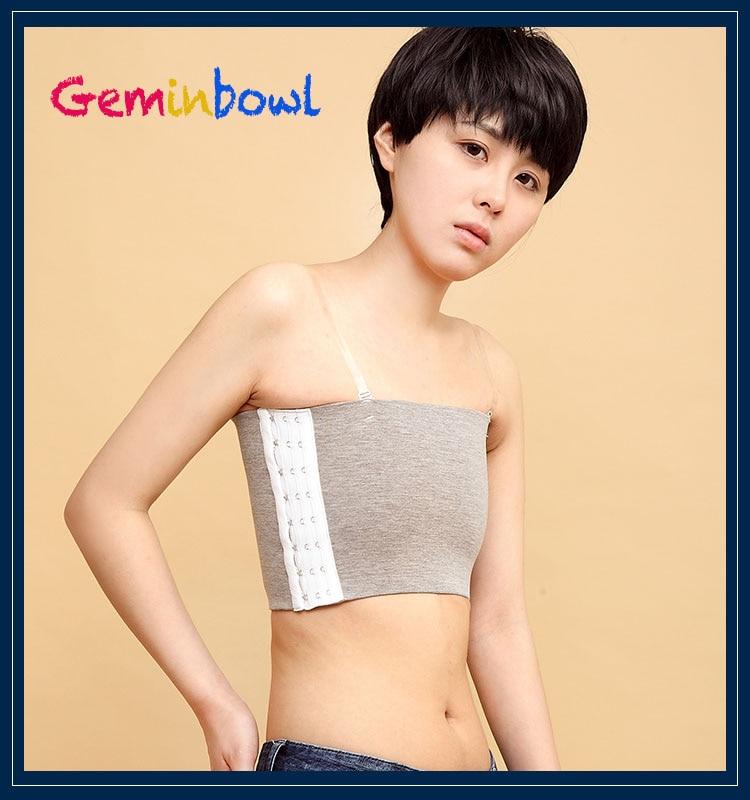 Geminbowl Elasztikus zenekar Chest Binder Bustiers Mellkorsetta Slim széles Flat Vest női Les