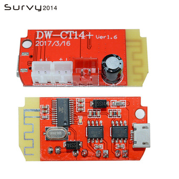 цена на DC 3.7V 5V 3W Digital Audio Amplifier Board Double Dual Plate Bluetooth Speaker Modification Sound Music Module Micro USB DIY