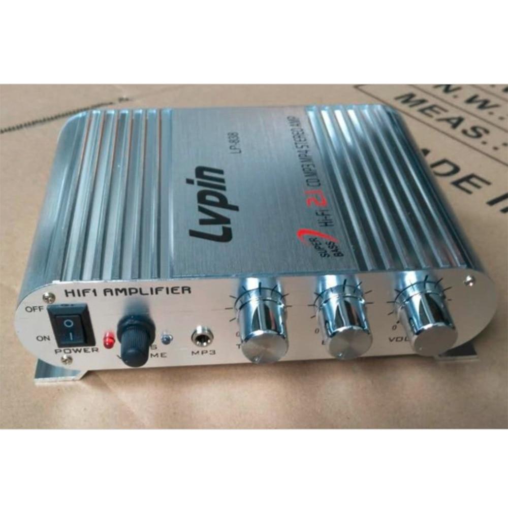 Mini HiFi Sliver 12V 200W CD MP3 Radio Car Auto Motor Boat Home Audio Stereo Bass