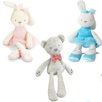 Kuscheltiere 42cm Length Kids Cute Plush Toys Soft Stuffed Animal Bunny Rabbit Toys Baby Girls Lovely Placate Dolls Kids Christmas Gifts