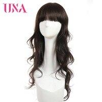 UNA человеческие волосы кудрявый парик стиль длинный парик свободные волнистые волосы бразильские некружевные передние человеческие волос