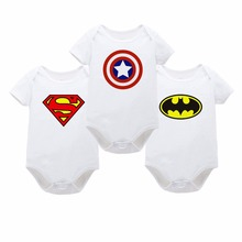 TBONTB Baby Clothing 2017 New Batman Newborn Baby Boy Girl Romper Clothes Superman Short Sleeve Infant Product Drop Shipping
