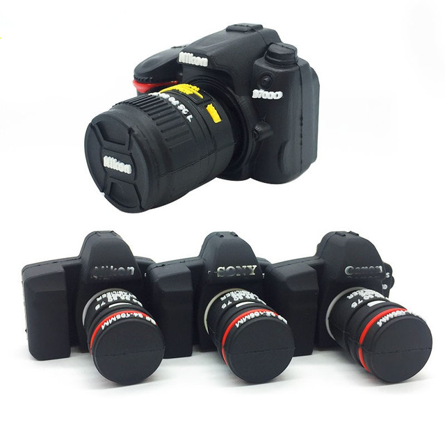 Флешка 16 ГБ usb 2,0 4 ГБ 8 ГБ 16 ГБ 32 ГБ 64 ГБ 128 ГБ usb флеш-накопитель 128 ГБ мультяшная зеркальная камера карта памяти usb