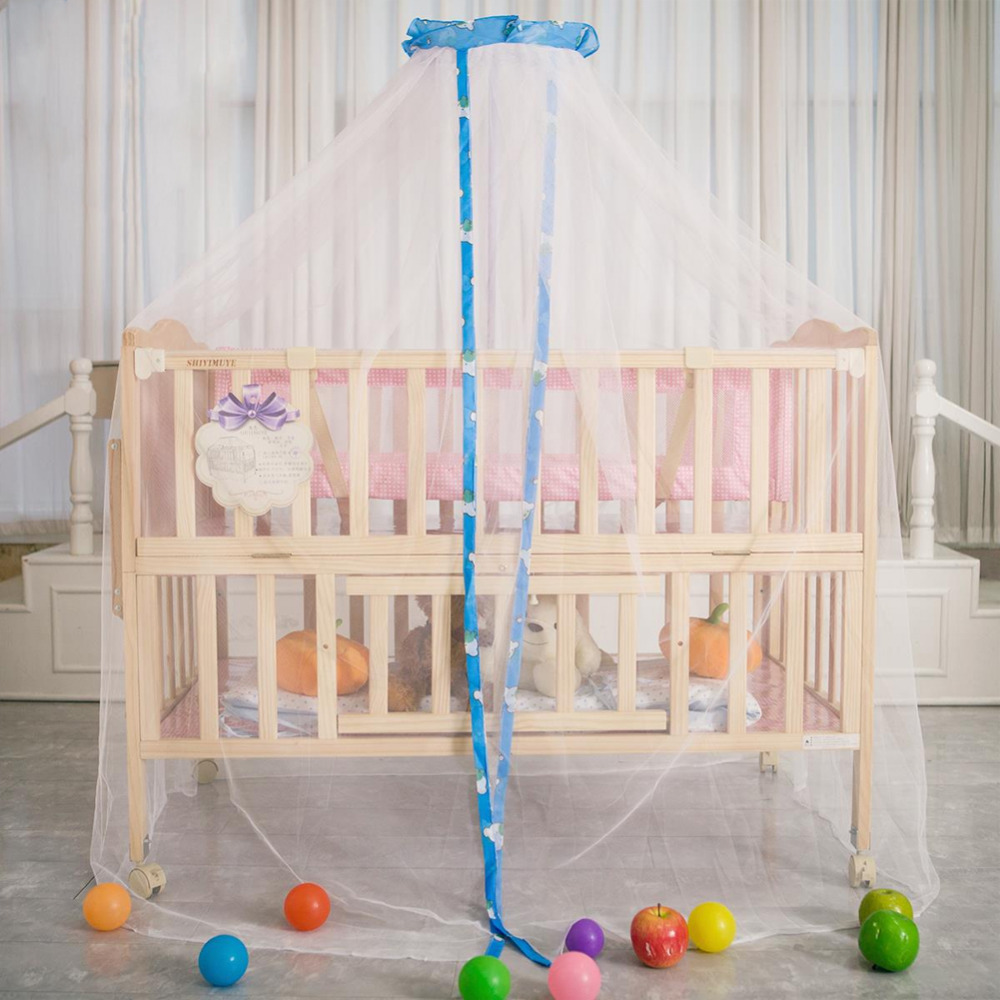Baby bed online shopping - Baby Mosquito Net Cute Hanging Round Dome Bed Canopy Netting Baby Kids Crib Mosquito Net Curtain