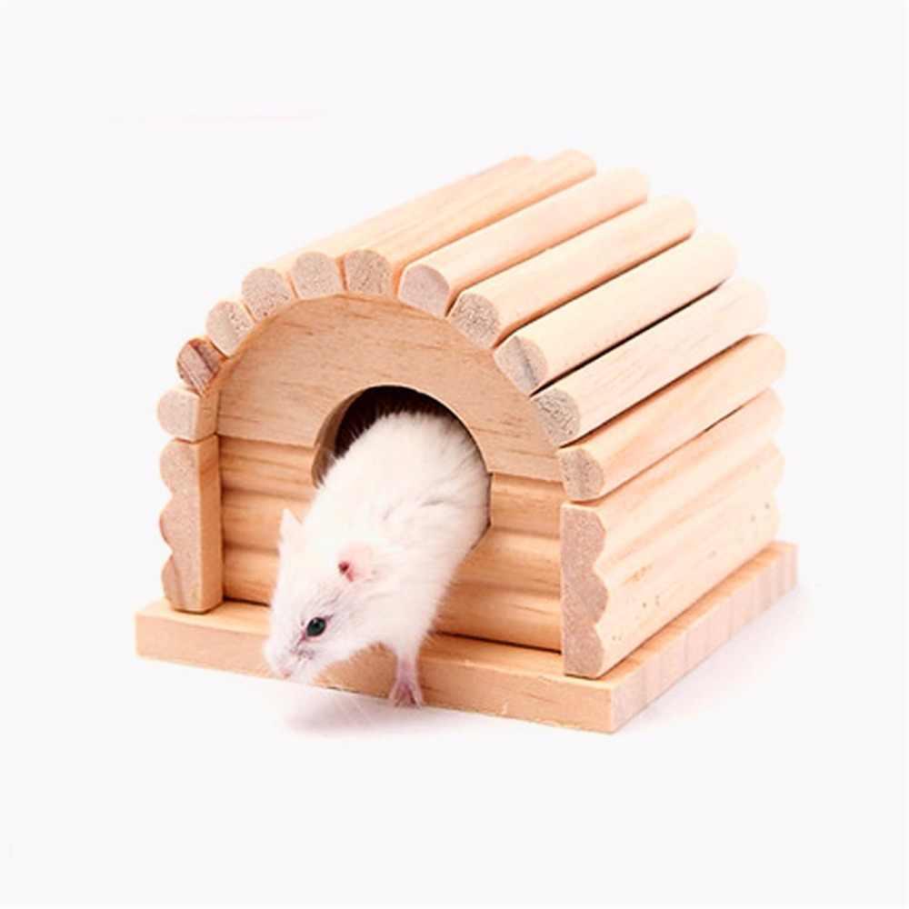 Material de madeira Bonito Pequeno Animal de Estimação Cama Da Casa do Rato Rato Hamster Coelho Inverno Quente Pendurado Casas Ninho Gaiola de Esquilo