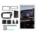 Delicado 2 din car radio fascia para 2009 + honda insight rhd auto estéreo adaptador panel plate frame dvd