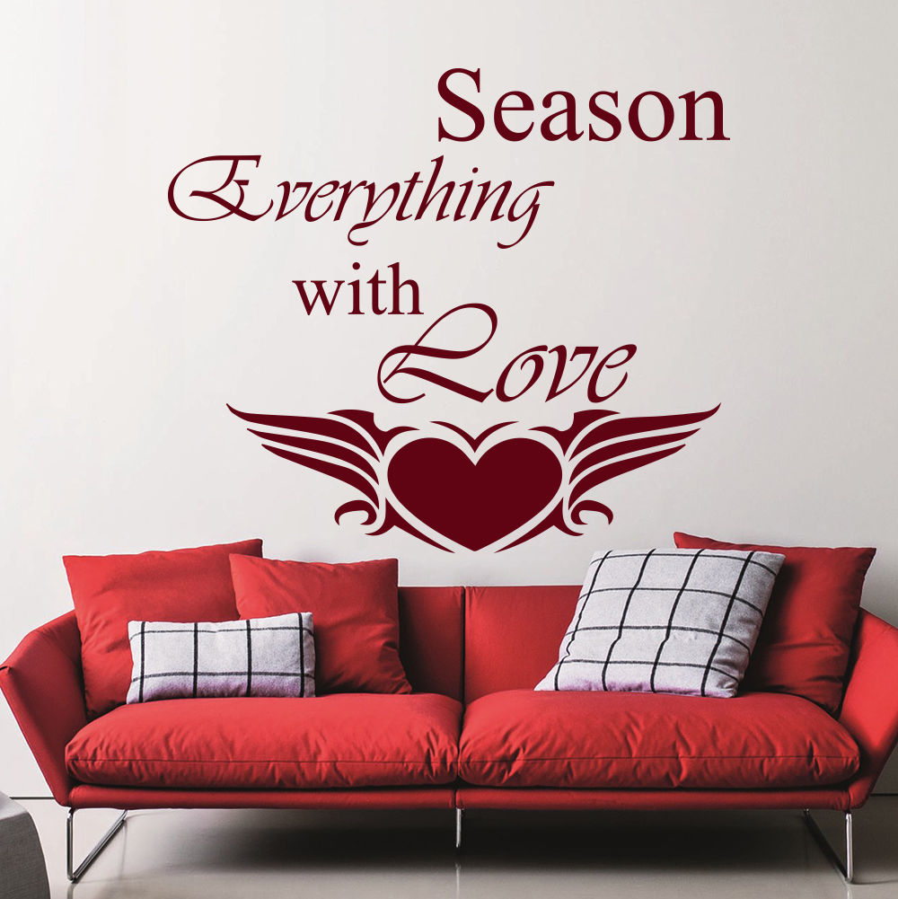Wall Decal Season Everything With Love Quote Decal Bedroom ...
