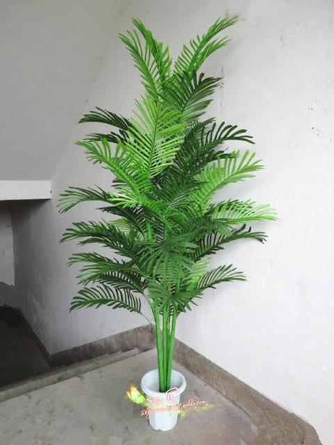 Chrysalidocarpus Lutesceus Simulation Tree Fake Tree Flowers Living Room  Decorative Plastic Green Trees And Plants Potted