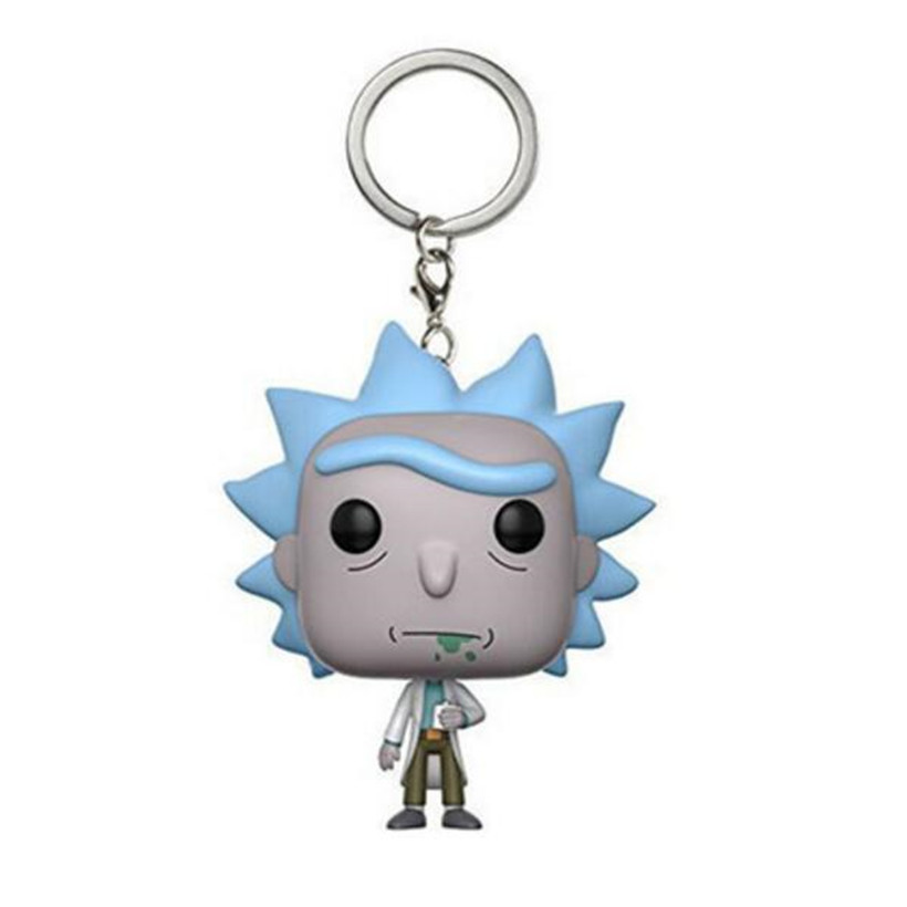 Anime Figure Stranger Things Theme Rick And Morty Pvc Keychain Action Figure Figma Model Hot Toys For Children Birthday Gifts
