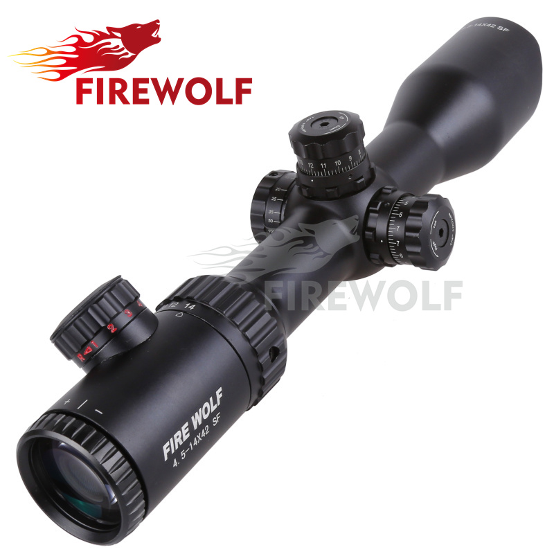 2017 NEW Fire Wolf 4.5-14X42 SF Riflescopes Rifle Scope Hunting Scope fits for 11mm/20mm Rail Free Shipping fyzlicion hunting fire wolf 6 24x60 m1 riflescopes rifle scope scope free shipping