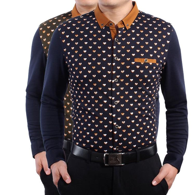 Aliexpress.com : Buy Men's fashion business shirt printed middle ...