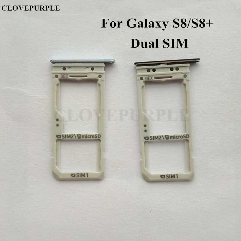 US $4 5 |1PCS Dual SIM Card Slot SD Card Tray Holder Adapter For Samsung  Galaxy S8 G950/S8 Plus G955-in Mobile Phone Housings from Cellphones &