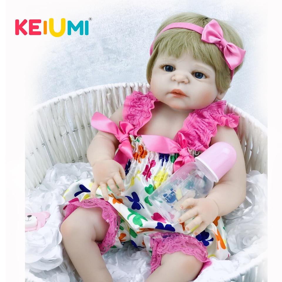KEIUMI Neue Design Volle Körper Silikon Puppen Reborn Reborn Baby Mädchen Können Bad Baby Reborn Ethnische Puppen für Kinder Spielzeug puppen-in Puppen aus Spielzeug und Hobbys bei  Gruppe 1