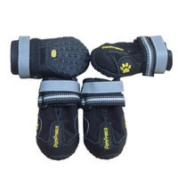 4PCS Waterproof Pet Boots Dog Shoes Form Medium To Large Dogs Labrador Husky Shoes Durable High