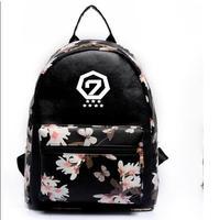 k pop new Leisure pu backpack GOT7 Jackson The same paragraph Girls Mini models Korean version College Wind school bag