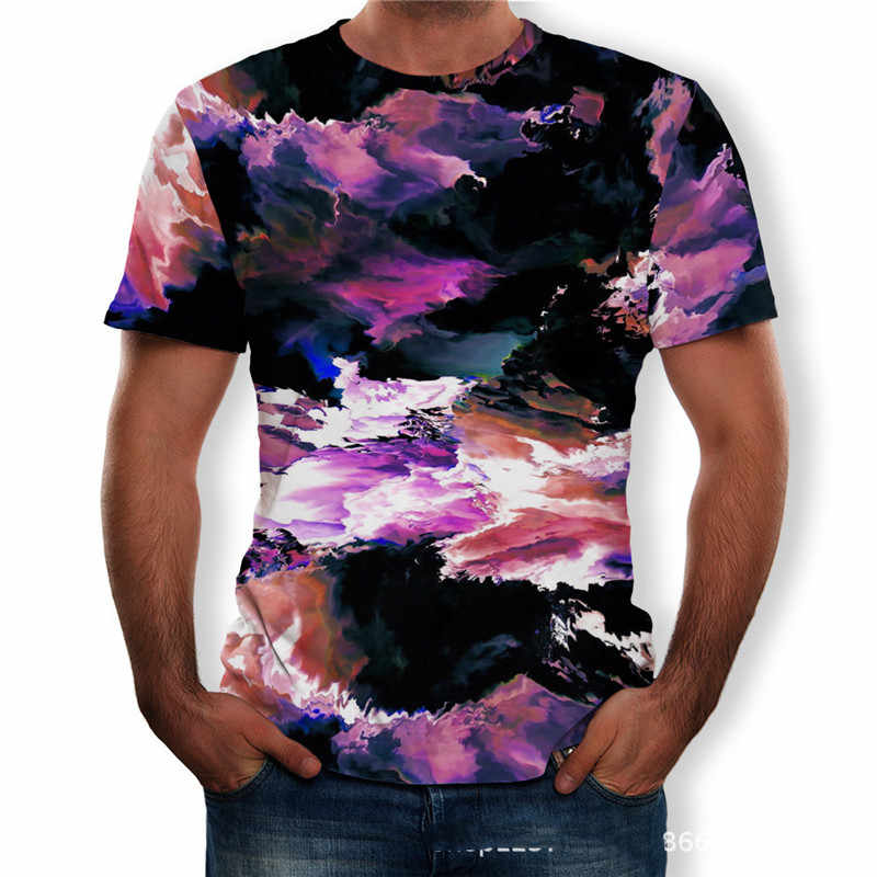 5XL Plus Size Mannen Kleding T-Shirts Korte Mouw O-hals Losse Casual Tops Tees 2019 Nieuwe Zomer 3D Print Mannelijke Grote size T-Shirt